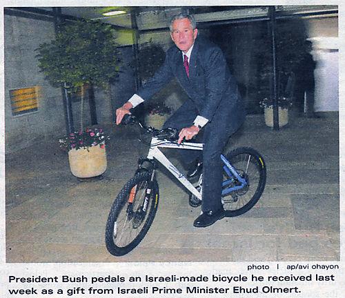 Bush_israeli_bike